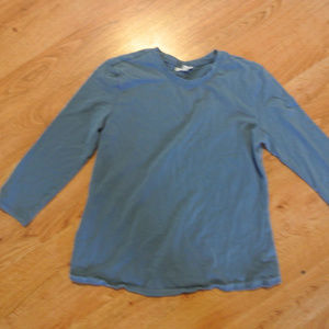 Mimi Maternity 3/4 Sleeve Blue Thick Cotton Top S